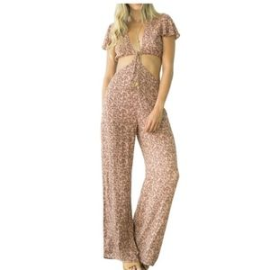 Honey Punch Space Yourself Out Cut-Out Jumpsuit